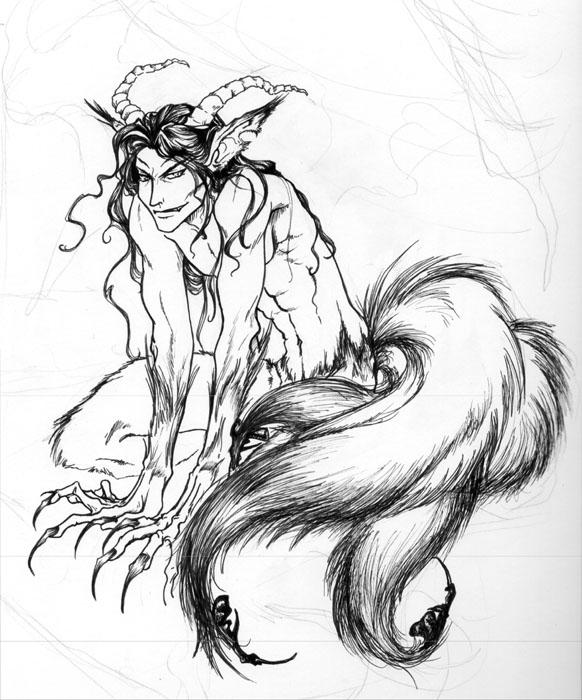 582x700 Demon Lord B w By Foxfur