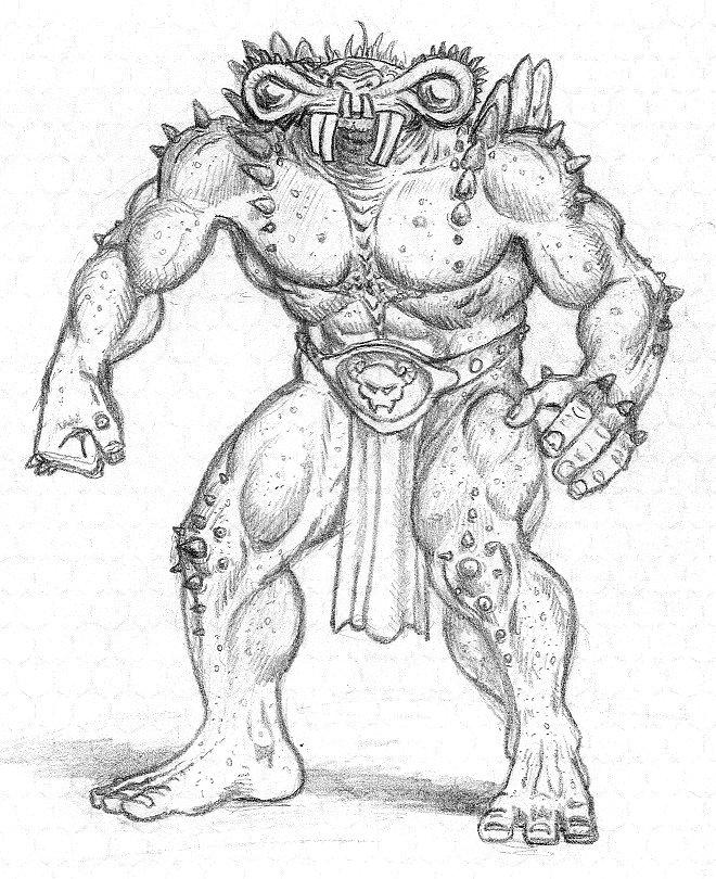660x810 Demon Sketch By Mjarrett1000