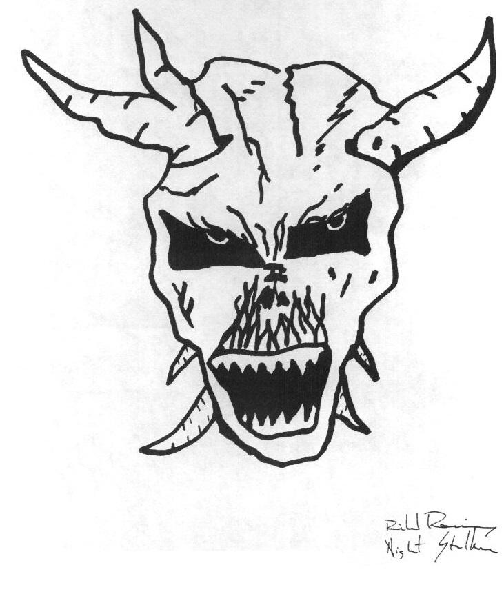 731x887 Demon Skull Drawing By Richard Ramirez By Psychoslasher13