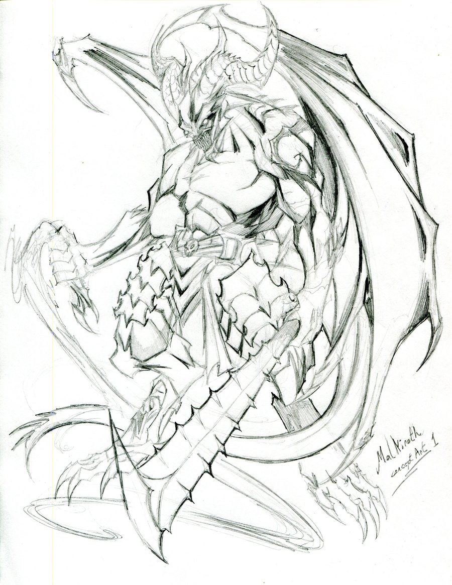 900x1165 Malkiroth Demon Concept Art 2 By Winddragon24