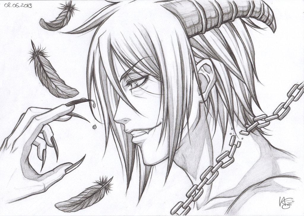 1024x730 Photos Anime Demon Drawings,