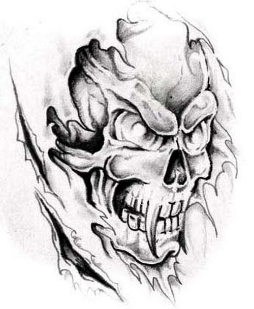 500x608 Scary Demon Tattoo Designs Elaxsir