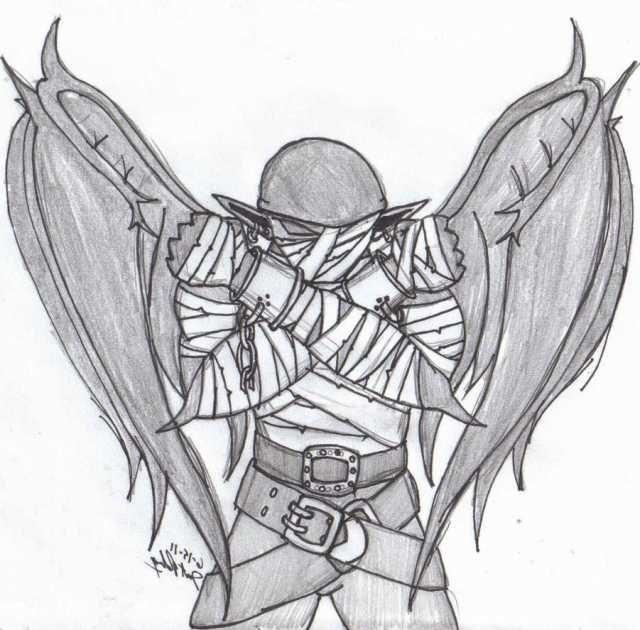640x630 Small Demonic Wings Tattoo Ideas