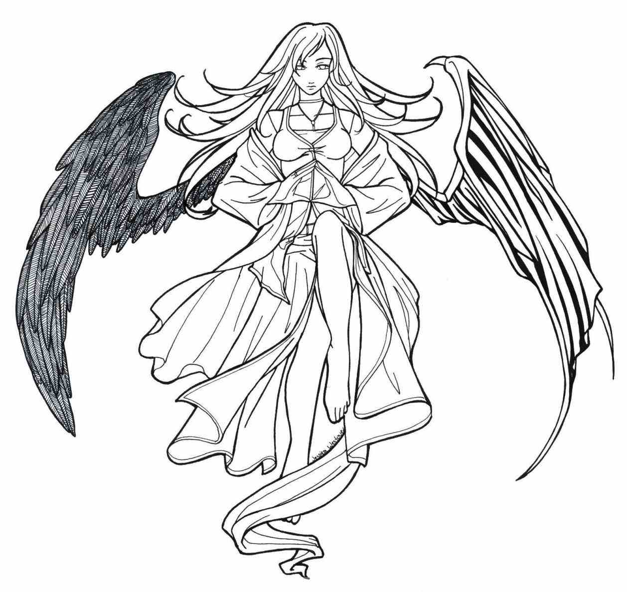 1258x1188 Dark Angel Anime Drawings Death S Drawing Ideas For The Images