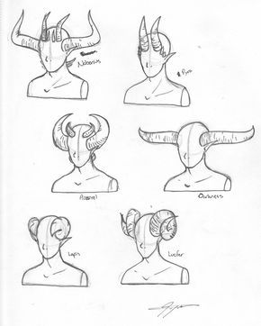 290x362 How To Draw Demon Horns