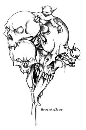 290x440 Monster Demon Skull Metalbandnetwork