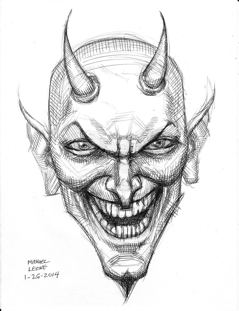 Devil Face Line Drawing : Demon drawing ideas at getdrawings free for personal