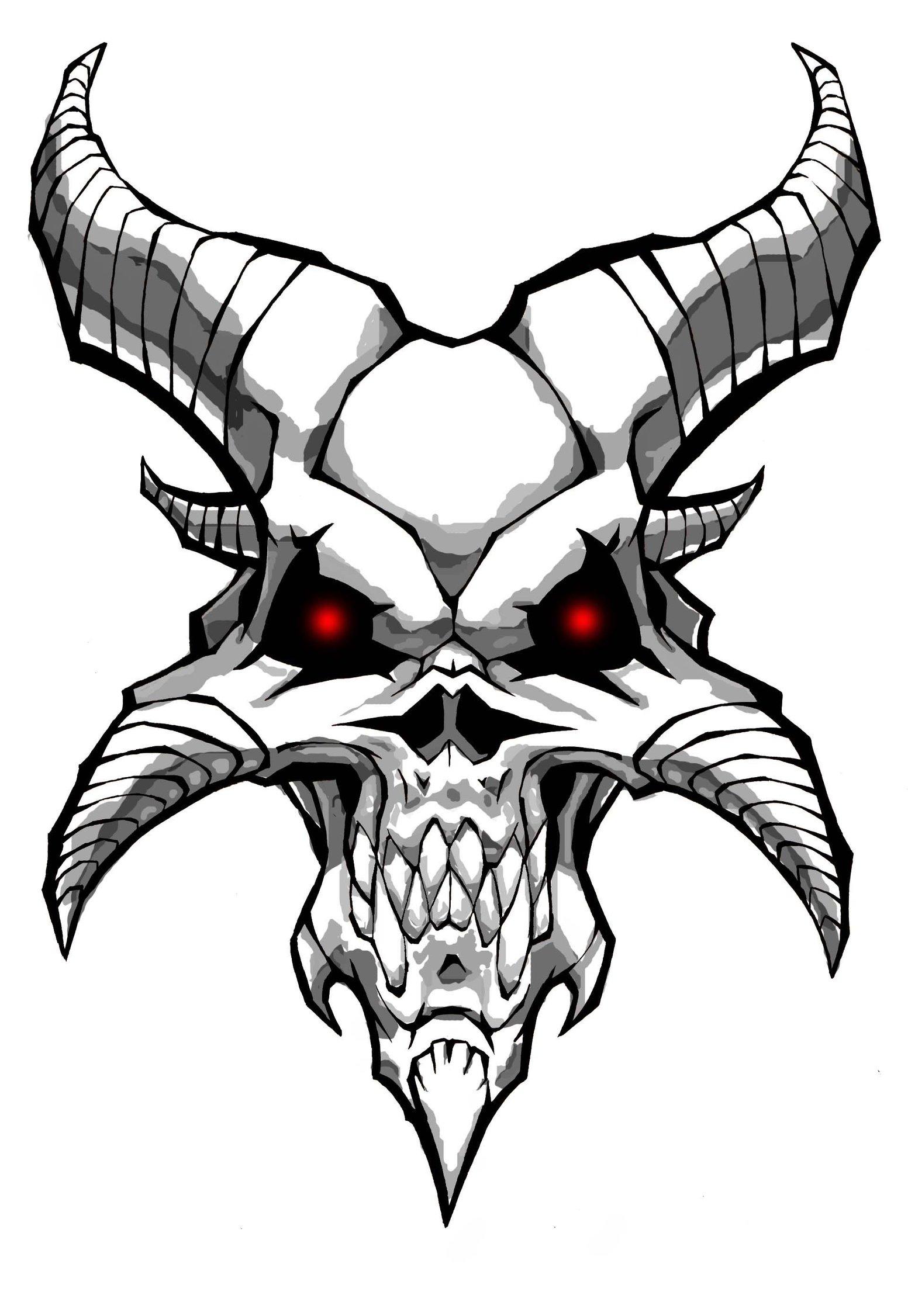 1553x2252 Demon Skull By Williamsquid