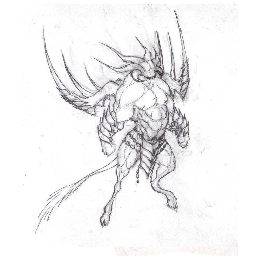 Demon Eye Drawing