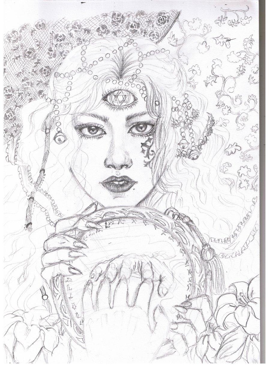 900x1238 Sketch Demon Eyes By Dawn Alexis