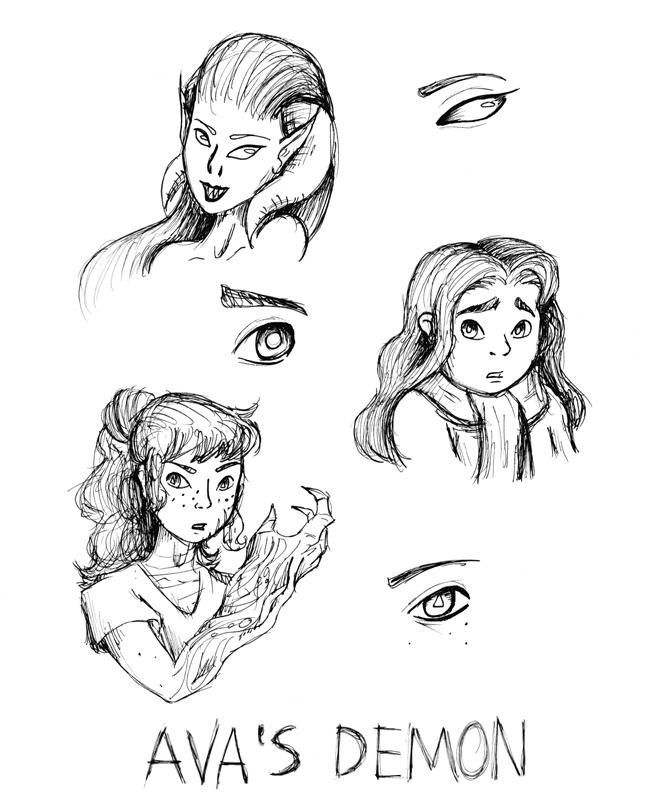 Demon Eyes Drawing