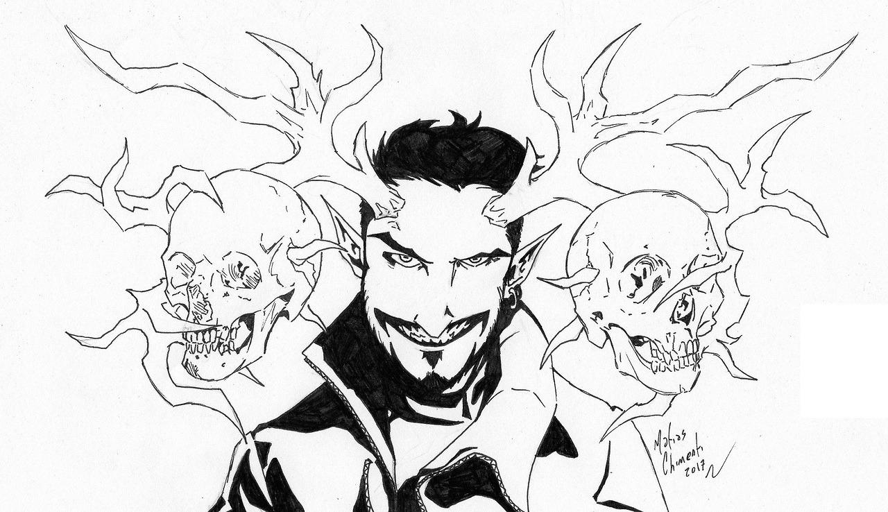 Demon Pencil Drawing At Getdrawings