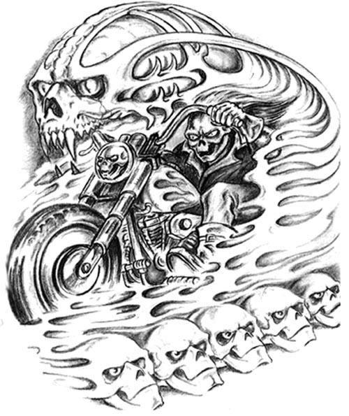 Demon Tattoo Drawing