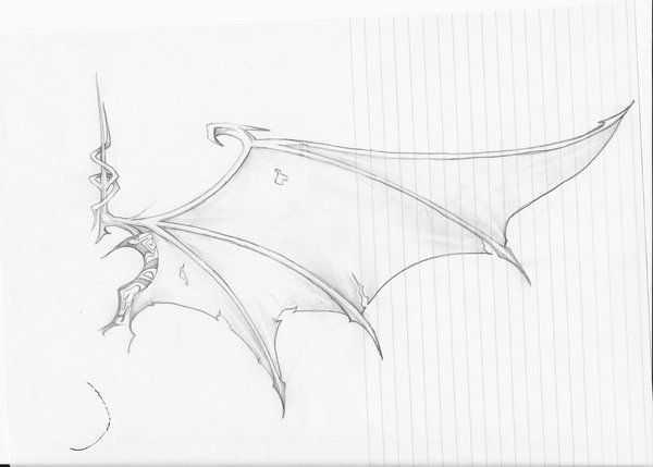 Demon Wings Drawing