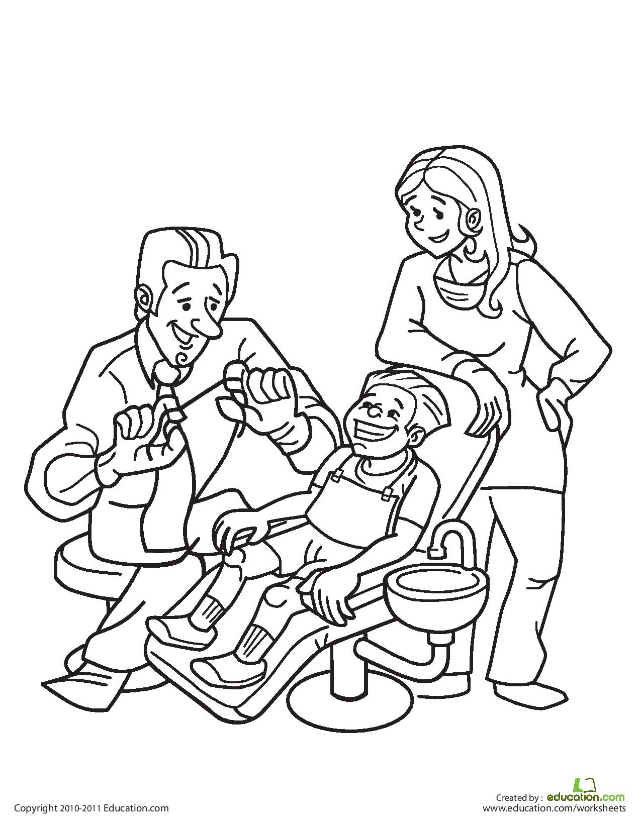 1275x1650 Dentist Coloring Kids Coloring