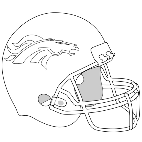 480x480 Denver Broncos Helmet Coloring Page Free Printable Coloring Pages