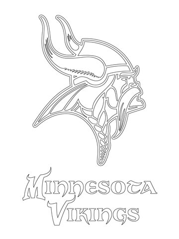 360x480 Minnesota Vikings Logo Coloring Page Free Printable Coloring Pages