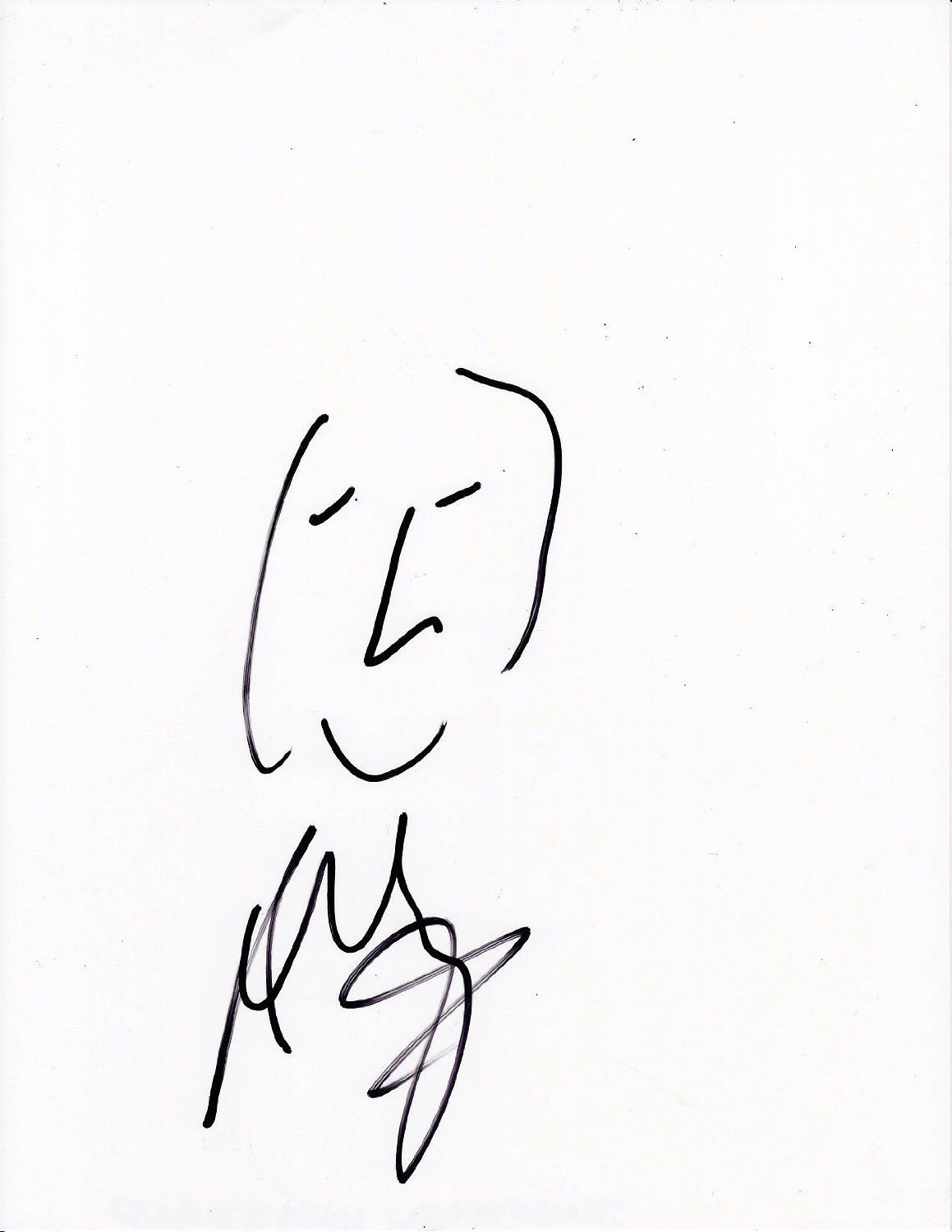 1159x1500 James Young Drawing Sketch Artwork Autographed Signed Coa