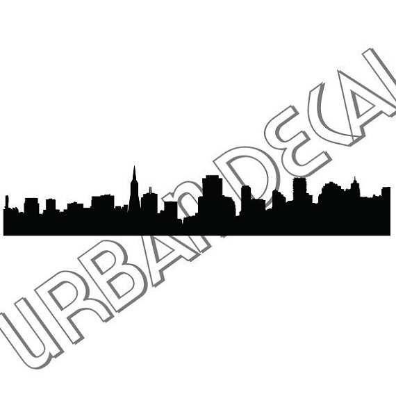 570x570 San Francisco Skyline Decal Vinyl Sticker For Car Window