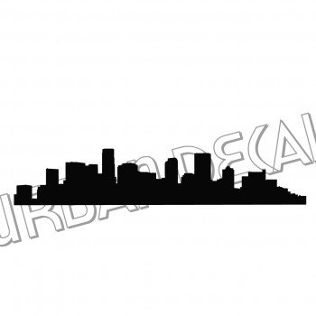 350x350 Denver Skyline Decal, Colorado Vinyl Sticker, For Car