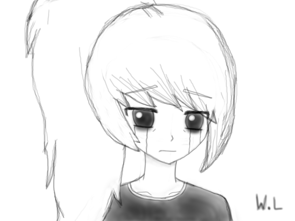Depressed Girl Crying Drawing at GetDrawings | Free download
