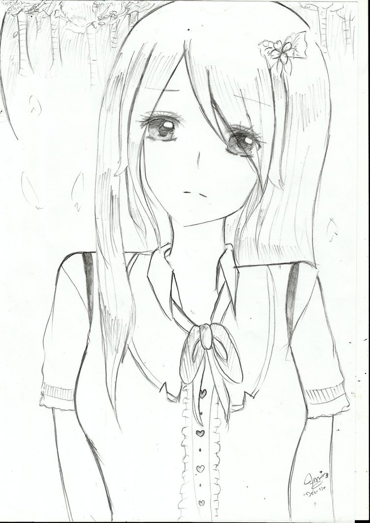 Depressed Girl Drawing At Getdrawings Com Free For Personal Use