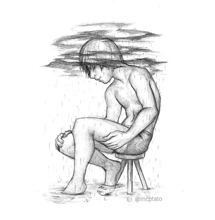 883x904 Depression Raw Sketch By Mcptato