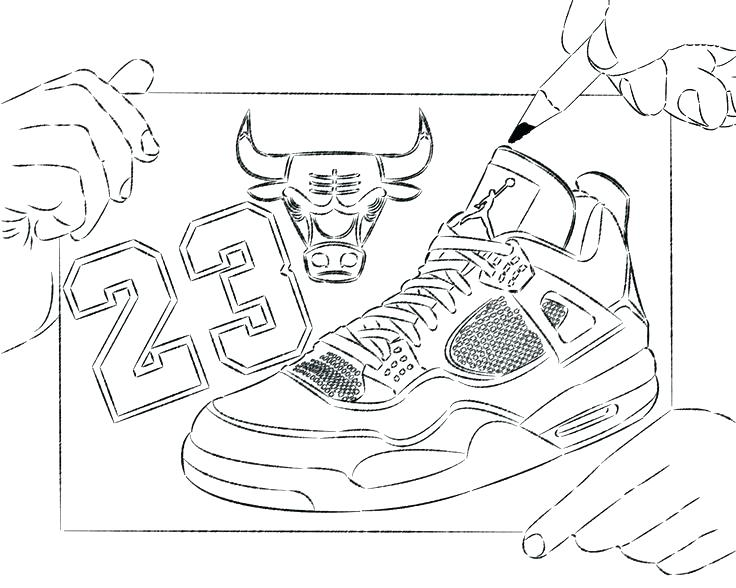736x588 Derrick Rose Shoes Coloring Sheets Printable