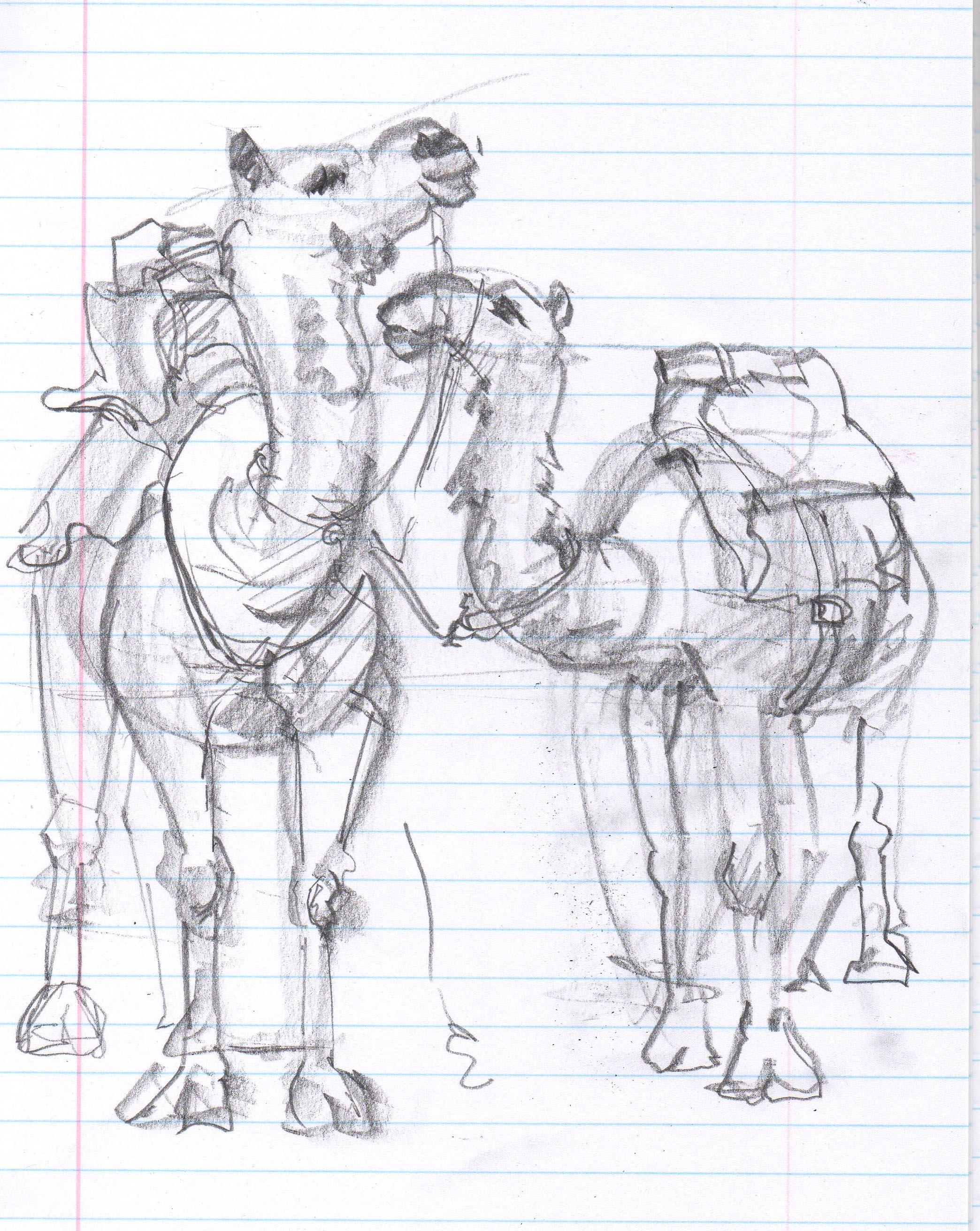 2088x2623 Desert Drawing Camels Moveable Paintbox