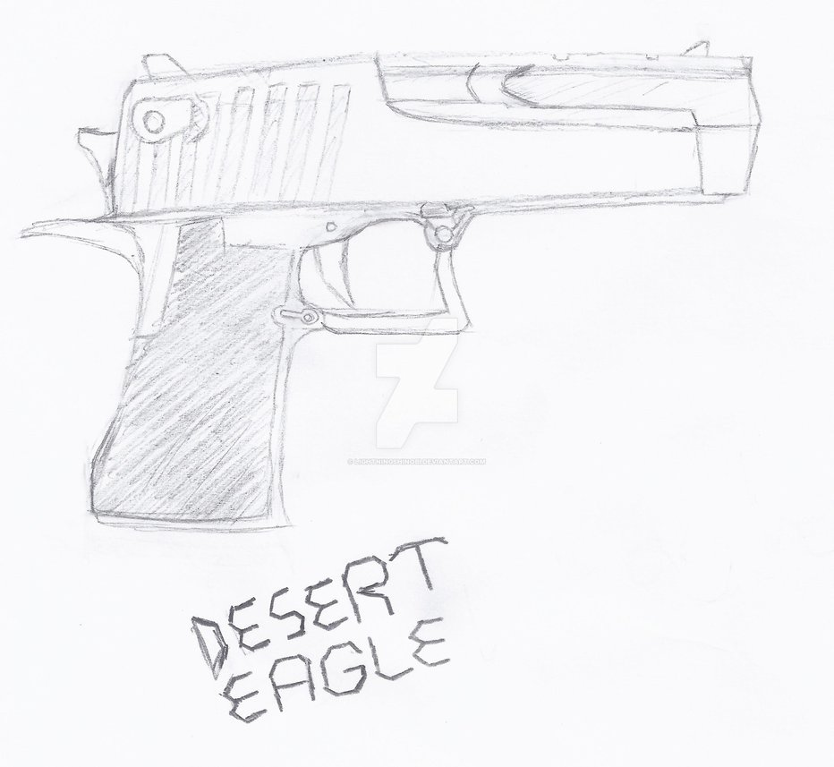 932x857 Desert Eagle Handgun By Lightningshinobi