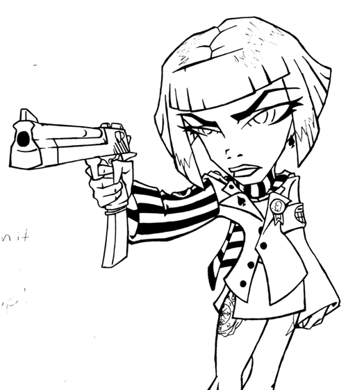 511x562 Zoe And Her Desert Eagle By Mathewsleep