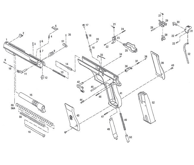 652x556 Baby Desert Eagle Exploded View