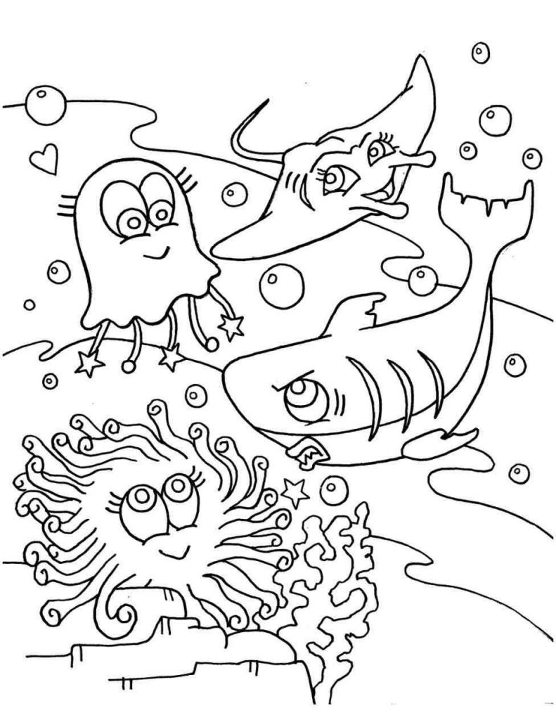 791x1024 Desert Ecosystem Coloring Page