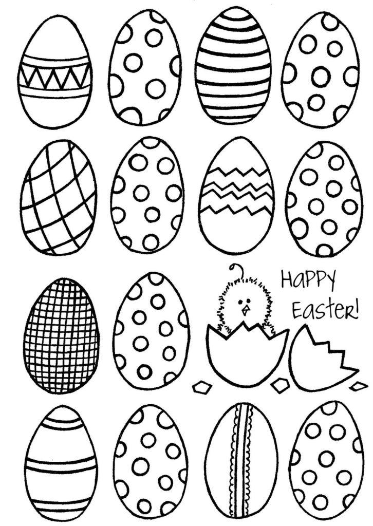 726x1024 Easter Egg Drawings