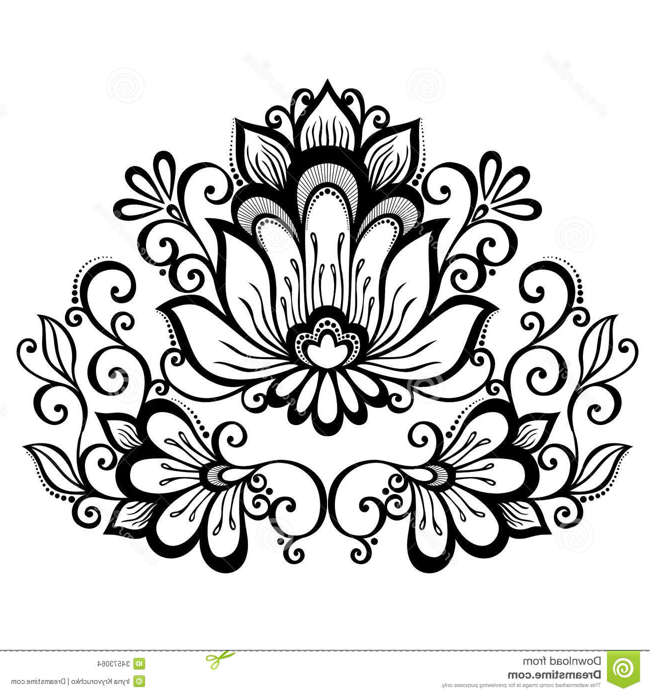 1300x1390 How To Draw A Beautiful Flower Design Drawing Flower Designs Free