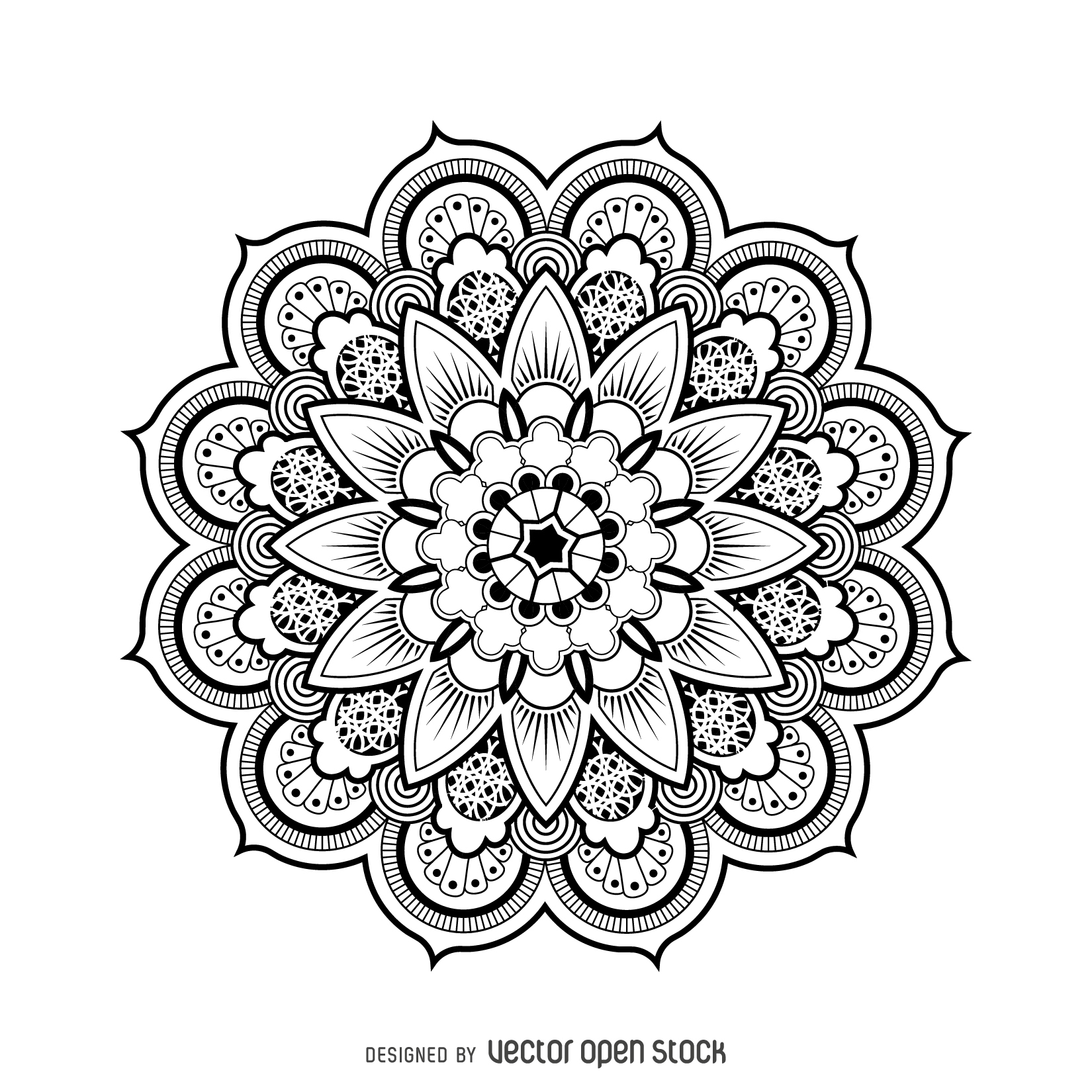 1650x1650 Mandala Design Drawing