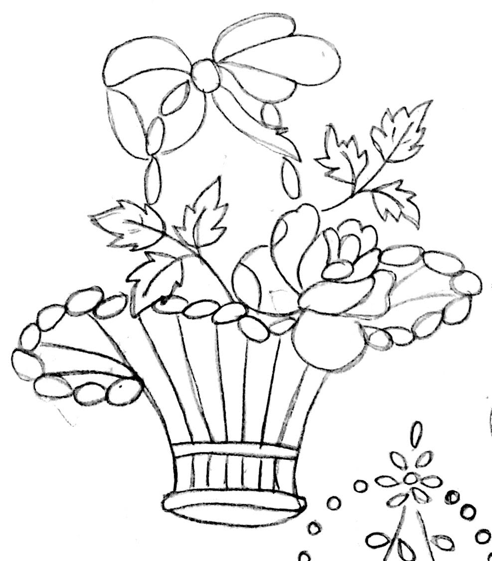 987x1125 Best Flowerpot Designs For Embroidery, Drawing, Fabric Printing