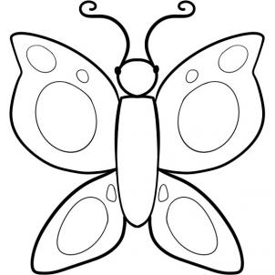 302x302 How To Draw How To Draw A Butterfly For Kids
