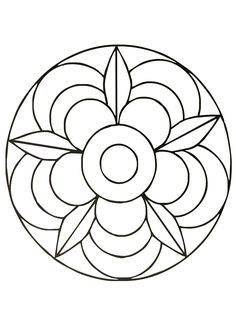 236x325 Mandalas For Kids Easy Mandala Coloring Page For Children
