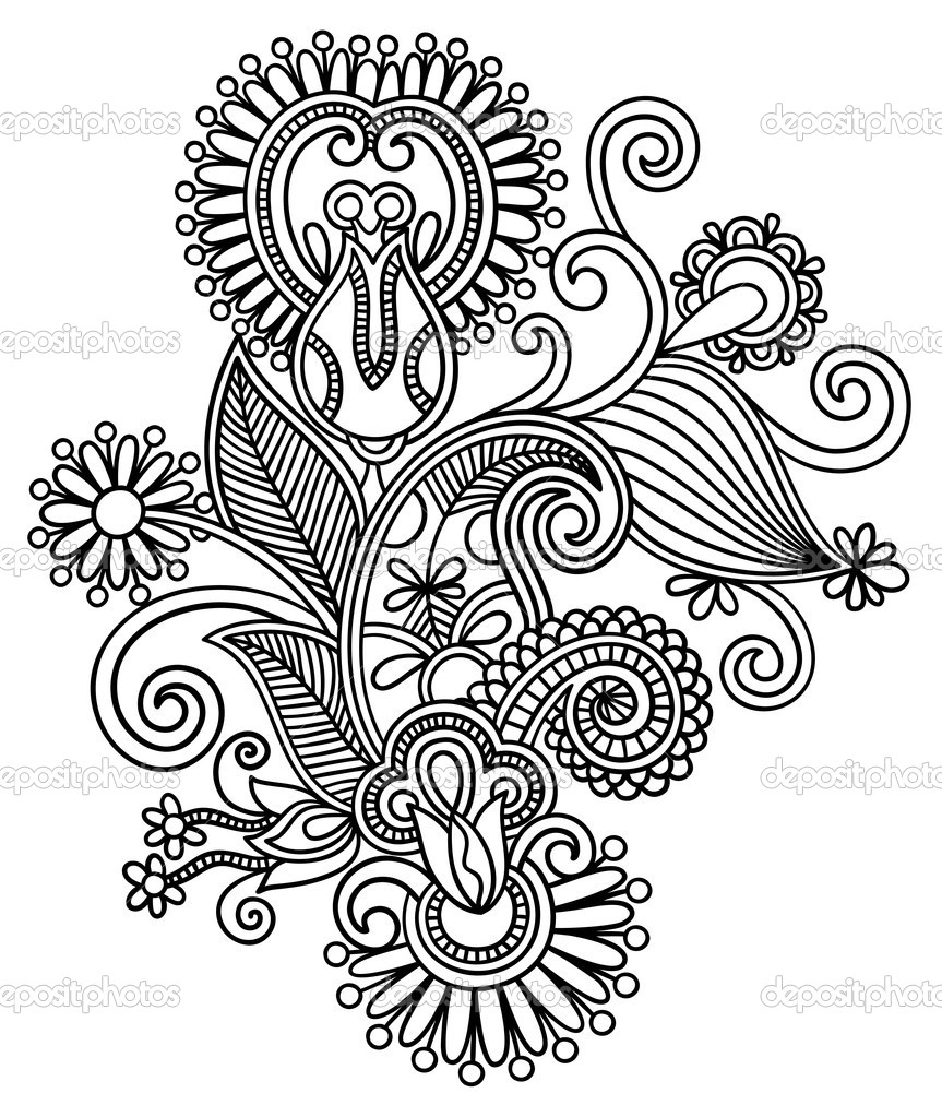 863x1023 Drawing Flower Designs