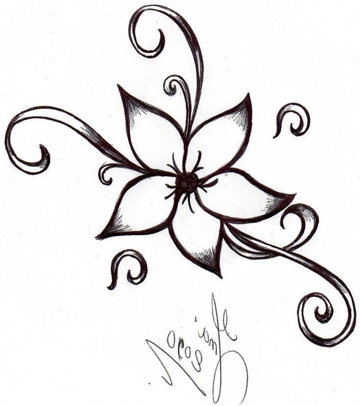 736x830 Easy Flower Sketch