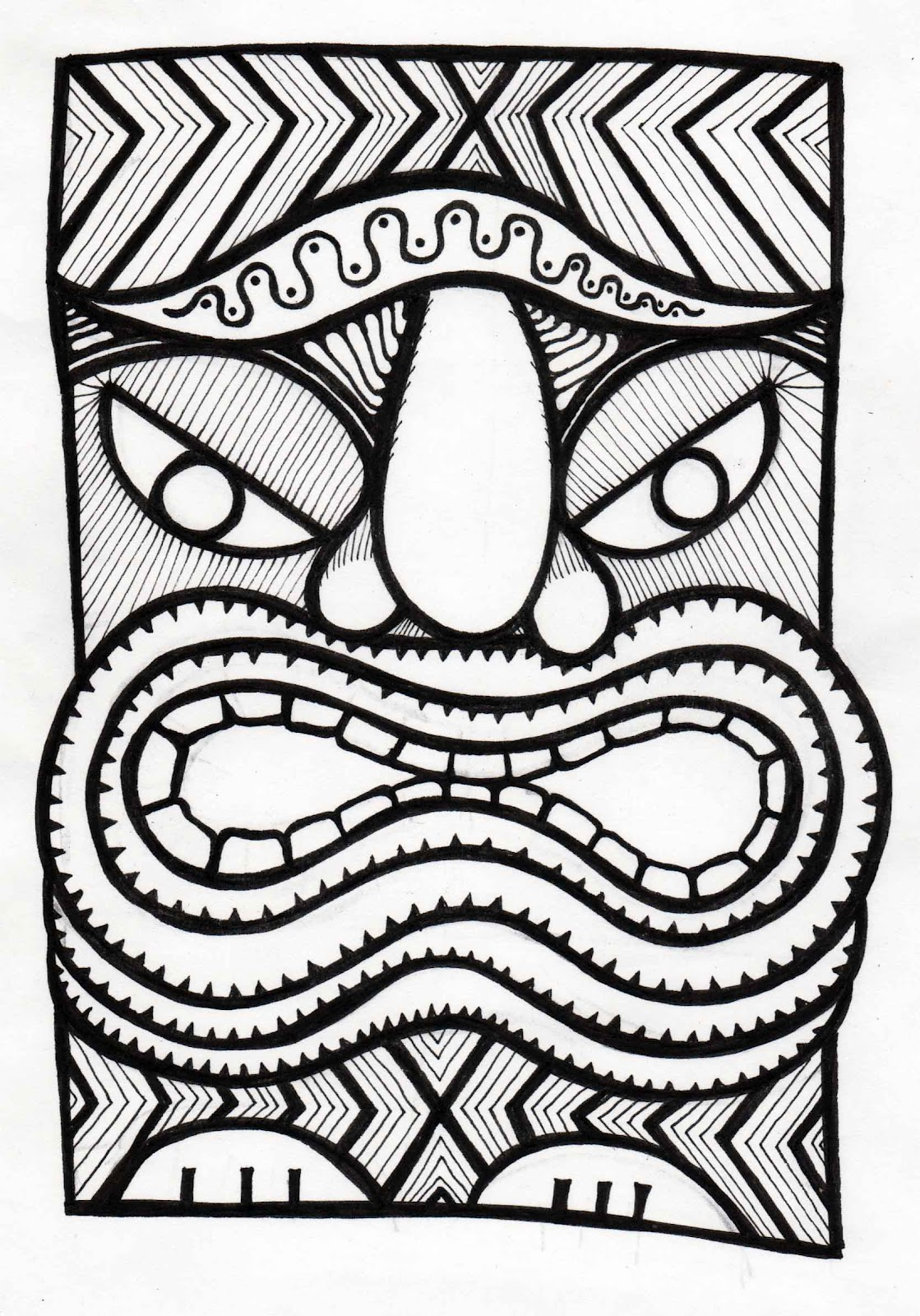 1119x1600 Stitchlily How To Draw A Tiki Head!