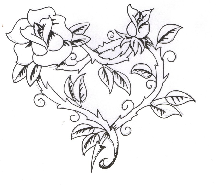 900x772 Black Rose Tattoo Designs Ideas Photos Images