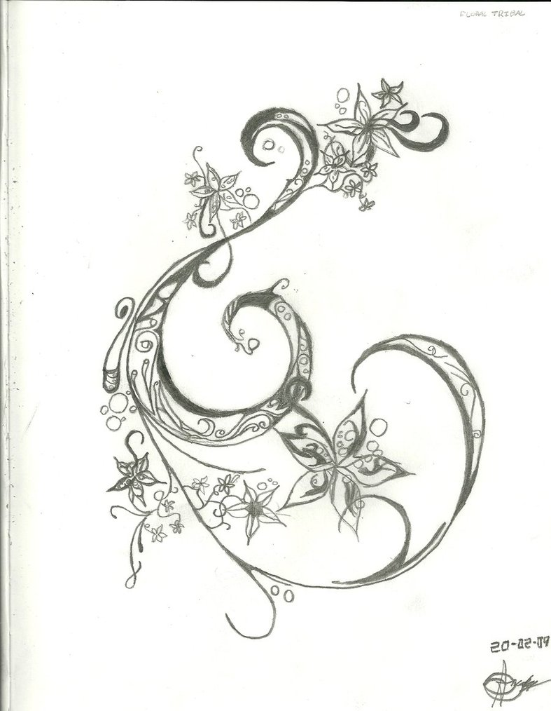 787x1014 Star And Flower Tattoo Designs Group