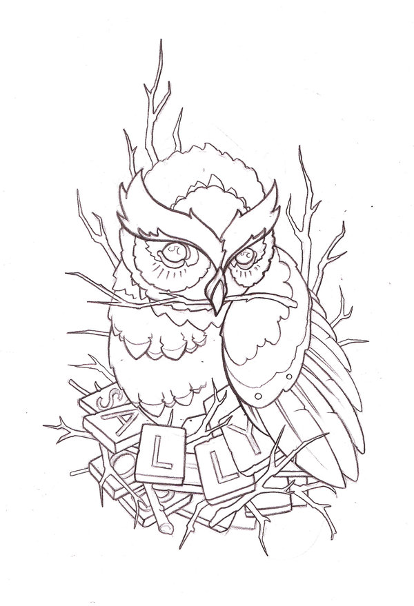 600x879 Tattoo Design Owl By Reklawpeels