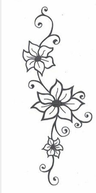 318x638 Pictures Simple Flower Drawing Designs,