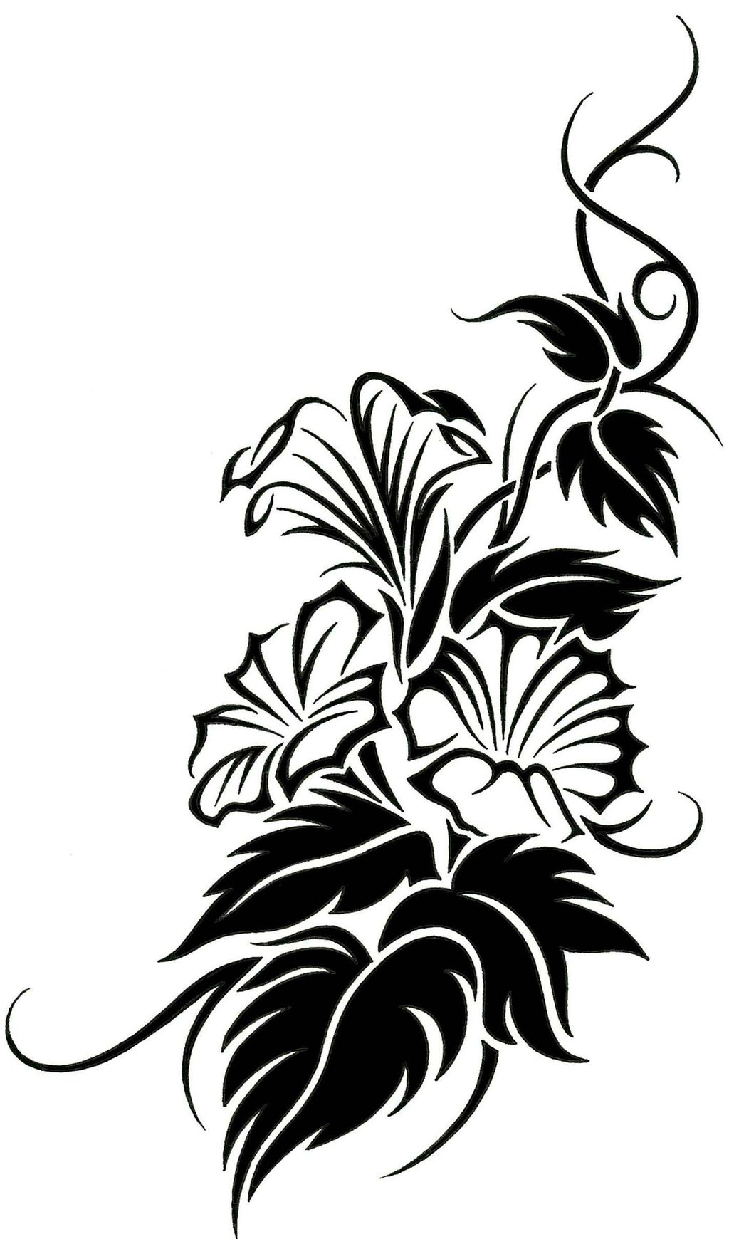 1024x1740 Collection Of Best Tribal Flower Tattoo Designs