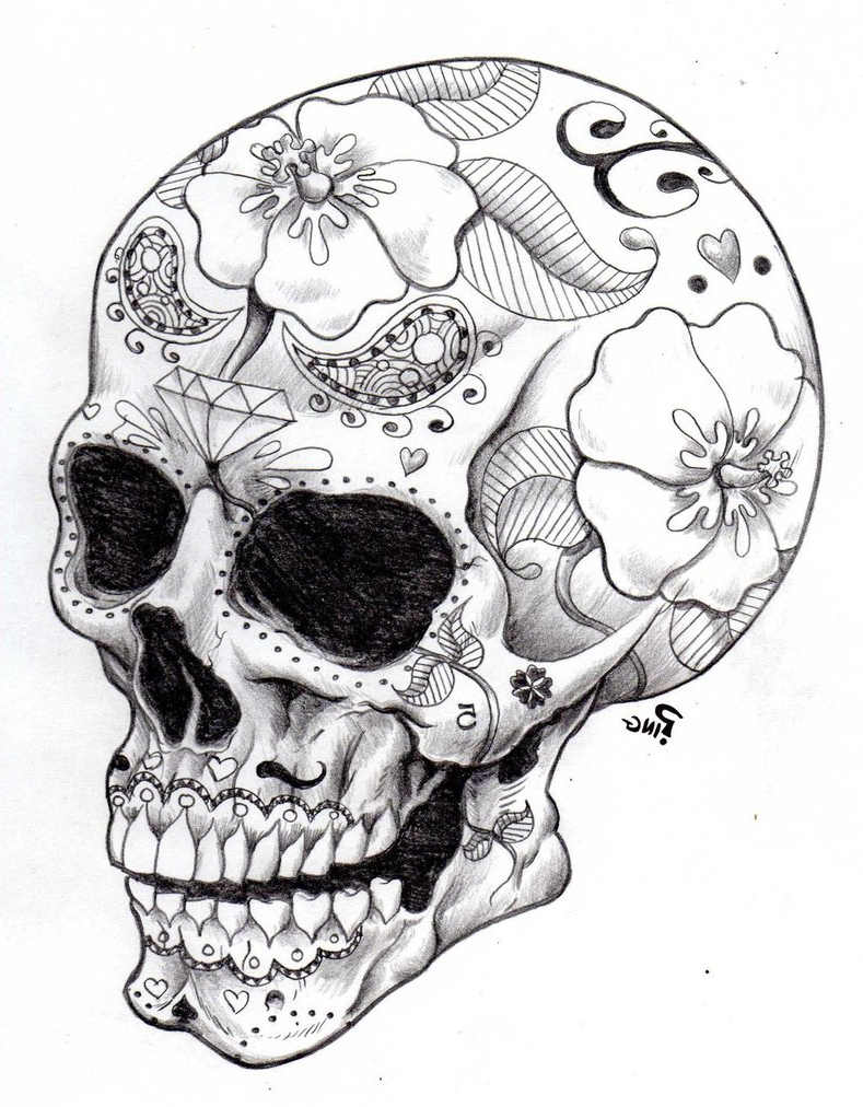 789x1012 Sugar Skull Tattoo Designs Tumblr Images About Skulls Art