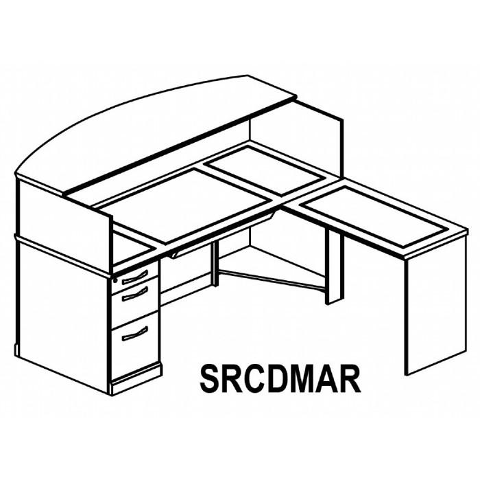 700x699 Desk Detail Drawing