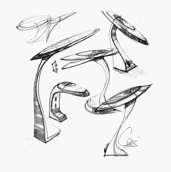 570x572 Desk Lamp Concept Sketch By Carisketching